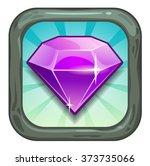 cartoon app icon with precious...