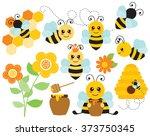 honey bees | Shutterstock .eps vector #373750345