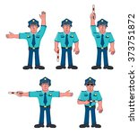 Traffic Policeman. Vector...