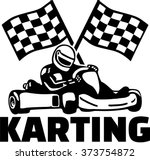 karting with kart driver and... | Shutterstock .eps vector #373754872