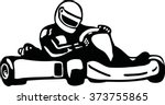 kart racer | Shutterstock .eps vector #373755865