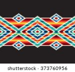 tribal seamless colorful... | Shutterstock .eps vector #373760956