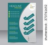 abstract flyer design... | Shutterstock .eps vector #373761652