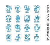 business fat line icon set for... | Shutterstock .eps vector #373770496