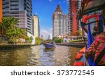 river boat transporting... | Shutterstock . vector #373772545