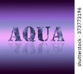 Aqua Blue Font Letters In Styl...