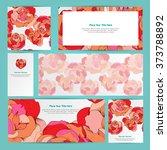 elegant cards with fullcolor... | Shutterstock .eps vector #373788892