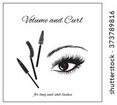 types of mascara brushes and... | Shutterstock .eps vector #373789816