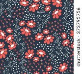 seamless pattern design with... | Shutterstock .eps vector #373795756