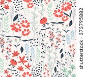 seamless pattern design with... | Shutterstock .eps vector #373795882