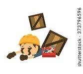 dangerous accident at work in...   Shutterstock .eps vector #373796596