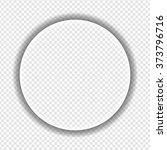 big white transparent sphere... | Shutterstock .eps vector #373796716