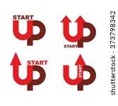 startup logo. character set for ... | Shutterstock .eps vector #373798342