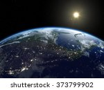 Постер, плакат: Earth from satellite Beautiful
