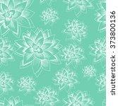 succulent. vector seamless... | Shutterstock .eps vector #373800136