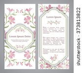 flyers with floral pattern  ... | Shutterstock .eps vector #373813822