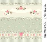 seamless floral border. shabby... | Shutterstock .eps vector #373816966