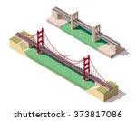 vector isometric  infographic... | Shutterstock .eps vector #373817086