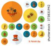 saint patricks day icon set.... | Shutterstock .eps vector #373831942