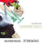 garden spring summer tools... | Shutterstock . vector #373836262