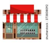 the front facade of the liquor...   Shutterstock .eps vector #373838092