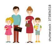 vector people happy family | Shutterstock .eps vector #373856518