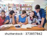 group of students has been at... | Shutterstock . vector #373857862