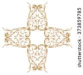 premium gold vintage baroque... | Shutterstock .eps vector #373859785