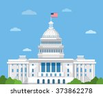 white house vector flat... | Shutterstock .eps vector #373862278
