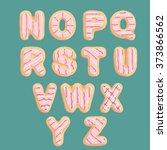 hand drawn latin aphabet in... | Shutterstock .eps vector #373866562