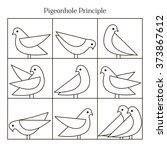vector pigeonhole principle... | Shutterstock .eps vector #373867612