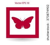 butterfly framed vector...   Shutterstock .eps vector #373874902