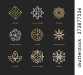 vector set of logo design... | Shutterstock .eps vector #373877536
