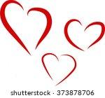 hearts | Shutterstock .eps vector #373878706
