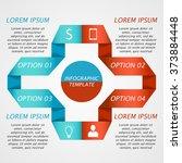 modern infographics options... | Shutterstock .eps vector #373884448