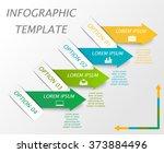 infographic template. modern...   Shutterstock .eps vector #373884496