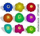 graphic elements set. vector... | Shutterstock .eps vector #37389148