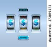 slot machine background.   Shutterstock .eps vector #373895878