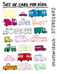 set of cars for kids   Shutterstock .eps vector #373901692