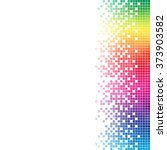 abstract rainbow mosaic vector... | Shutterstock .eps vector #373903582