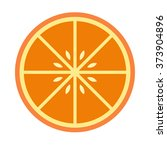 sliced orange icon. sliced...