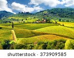 landscape in tuscany  italy | Shutterstock . vector #373909585