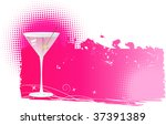 Martini On Pink Halftone Grung...