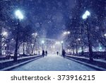 Night Winter Landscape In The...