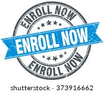 enroll now blue round grunge...   Shutterstock .eps vector #373916662