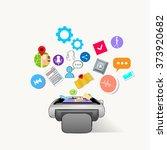 smart watch technology... | Shutterstock .eps vector #373920682