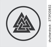 valknut icon in a circle | Shutterstock .eps vector #373920832