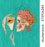 Illustration With Skull And...