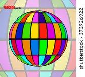 abstract globe earth. vector... | Shutterstock .eps vector #373926922