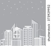 abstract delicate city.... | Shutterstock .eps vector #373929952